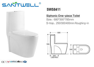 China Wc de Inodoro/absorvência siphonic do wc < 0,2%, toalete da ação de Siphonic fábrica